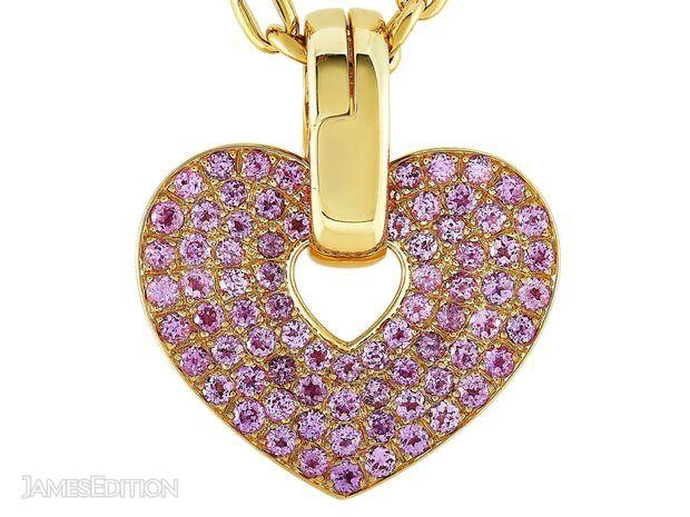 Poiray Poiray 18K Yellow Gold Pink Sapphire Heart Pendant... (11054835)