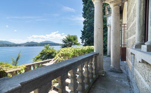 Castle in Stresa, Piedmont, Italy