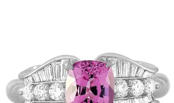 LB Exclusive LB Exclusive Platinum 0.50 ct Diamond and Spinel Ring