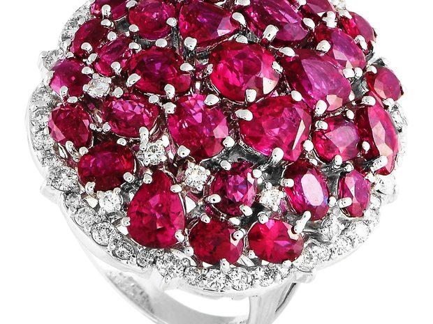 LB Exclusive LB Exclusive Platinum 0.84 ct Diamond and Ru... (11057309)