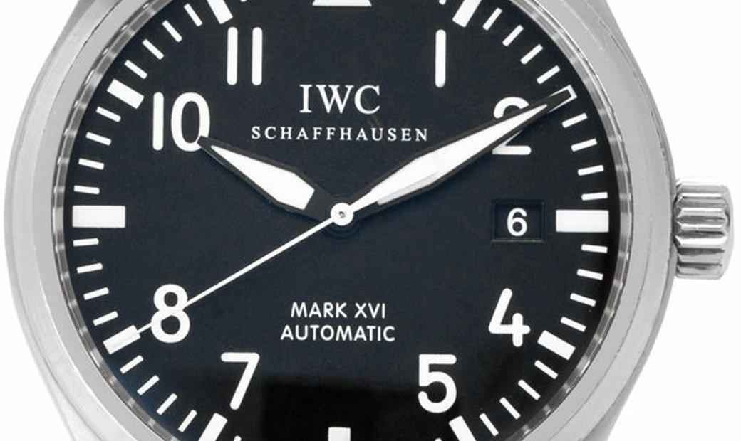 IWC Mark XVI IW325501, Arabic Numerals, 2009, Good, Case material Steel, Bracelet mater