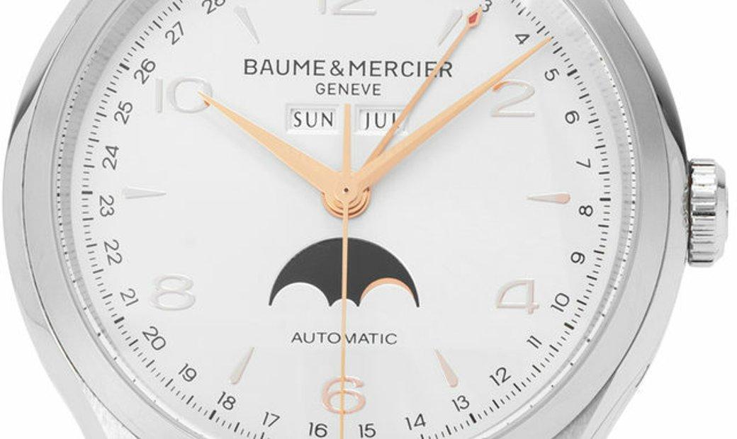 Baume et Mercier Clifton M0A10055, Arabic Numerals, 2019, Very Good, Case material Stee