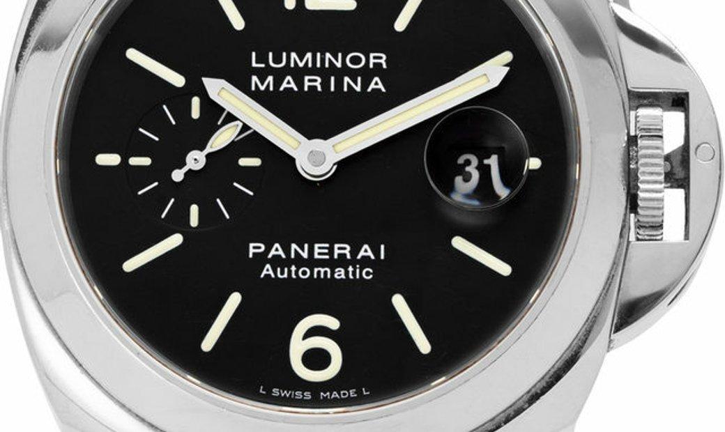 Panerai Luminor Marina PAM00104, Baton, 2008, Very Good, Case material Steel, Bracelet