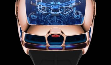Jacob & Co. 捷克豹 Bugatti Chiron 16 Cylinder Tourbillon Rose Gold Watch (Retail:HK$2,816,000)