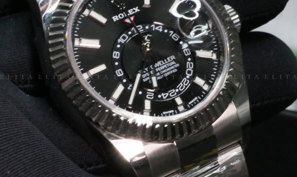Rolex Sky-Dweller 326934-0005 Oystersteel and White Gold Black Dial