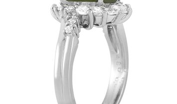 LB Exclusive LB Exclusive Platinum 0.66 ct Diamond and Cat's Eye Ring