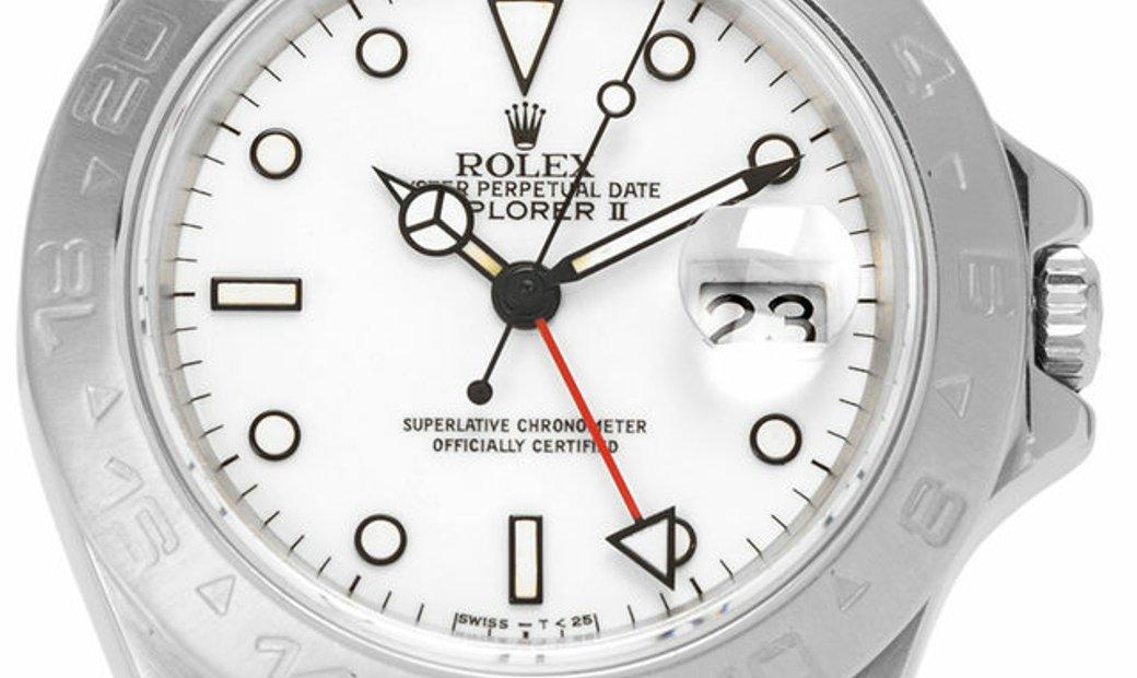 Rolex Explorer II 16550, Baton, 1987, Good, Case material Steel, Bracelet material: Ste