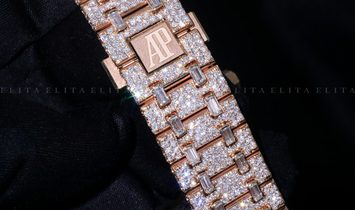 Audemars Piguet Royal Oak 15407OR.OO.1220OR.01 Bespoke Diamond Set
