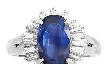 LB Exclusive LB Exclusive Platinum 0.45 ct Diamond and Sapphire Ring
