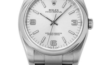 Rolex Oyster Perpetual 116000, Arabic Numerals, 2010, Very Good, Case material Steel, B