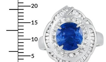 LB Exclusive LB Exclusive Platinum 0.71 ct Diamond and Sapphire Ring