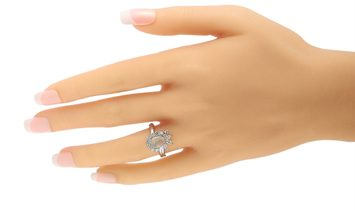 LB Exclusive LB Exclusive Platinum 0.76 ct Diamond and Opal Ring
