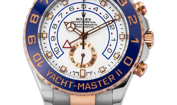 Rolex Yacht-Master II 116681, Baton, 2017, Very Good, Case material Steel, Bracelet mat