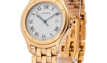 Cartier Cougar W25013B9, Roman Numerals, 1998, Very Good, Case material Yellow Gold, Br