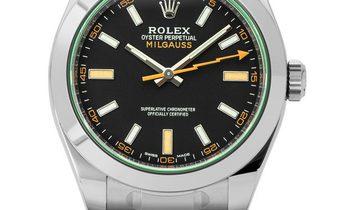 Rolex Milgauss 116400GV, Baton, 2020, Very Good, Case material Steel, Bracelet material