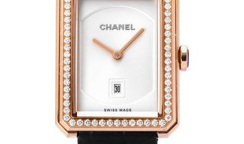 Chanel Boy-Friend H4469, Plain, 2016, Very Good, Case material Rose Gold, Bracelet mate