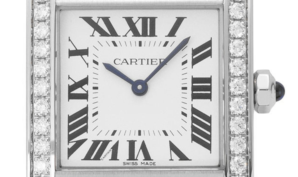 Cartier Tank Francaise W4TA0009, Roman Numerals, 2018, Very Good, Case material Steel,