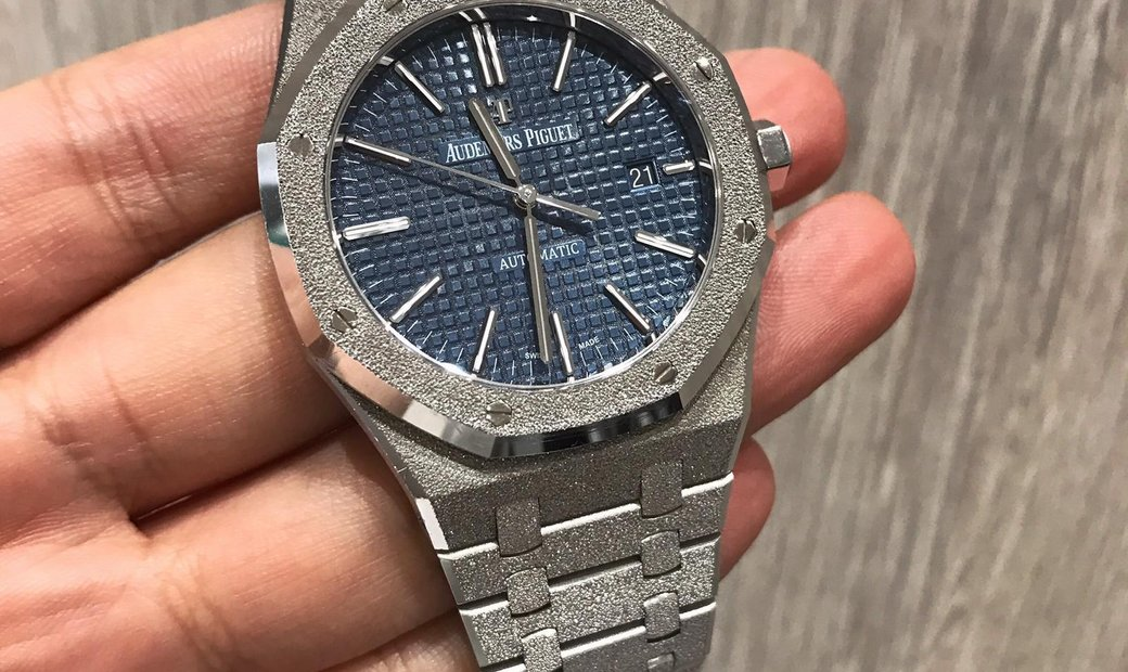 Audemars Piguet [LIMITED 200 PIECE] Royal Oak Frosted White Gold 15410BC 41mm Watch