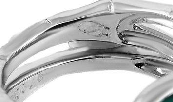 Carrera y Carrera Carrera y Carrera 18K White Gold 0.25 ct Diamond and Chalcedony Ring