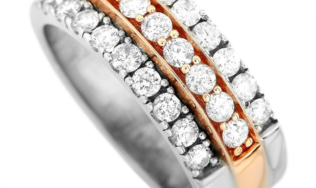LB Exclusive LB Exclusive 14K White and Rose Gold 1.00 ct Diamond Ring