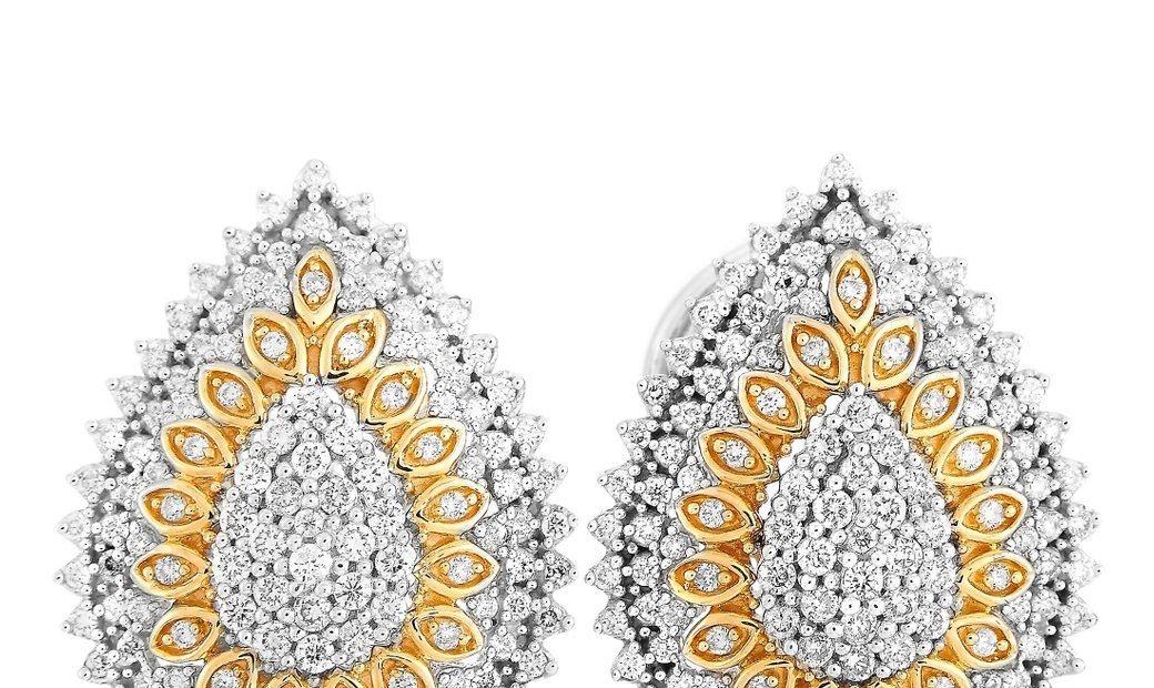 LB Exclusive LB Exclusive 14K White/Yellow Gold 1.00 ct Diamond Earrings