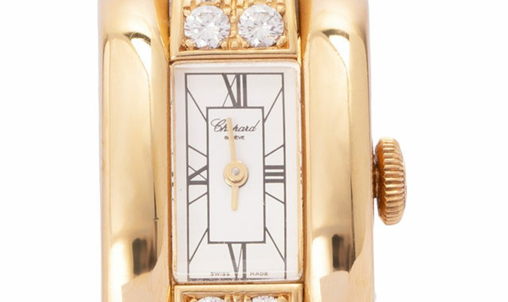 Chopard La Strada 416543-0001, Roman Numerals, 2015, Very Good, Case material Yellow Go