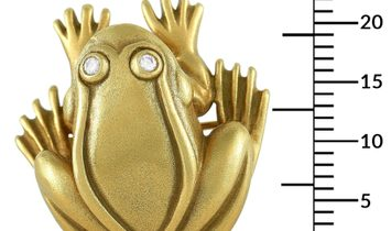 Kieselstein-Cord Kieselstein-Cord 18K Yellow Gold 0.06 ct Diamond Frog Brooch