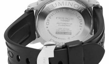 Panerai Luminor Chrono PAM00250, Arabic Numerals, 2010, Good, Case material Steel, Brac