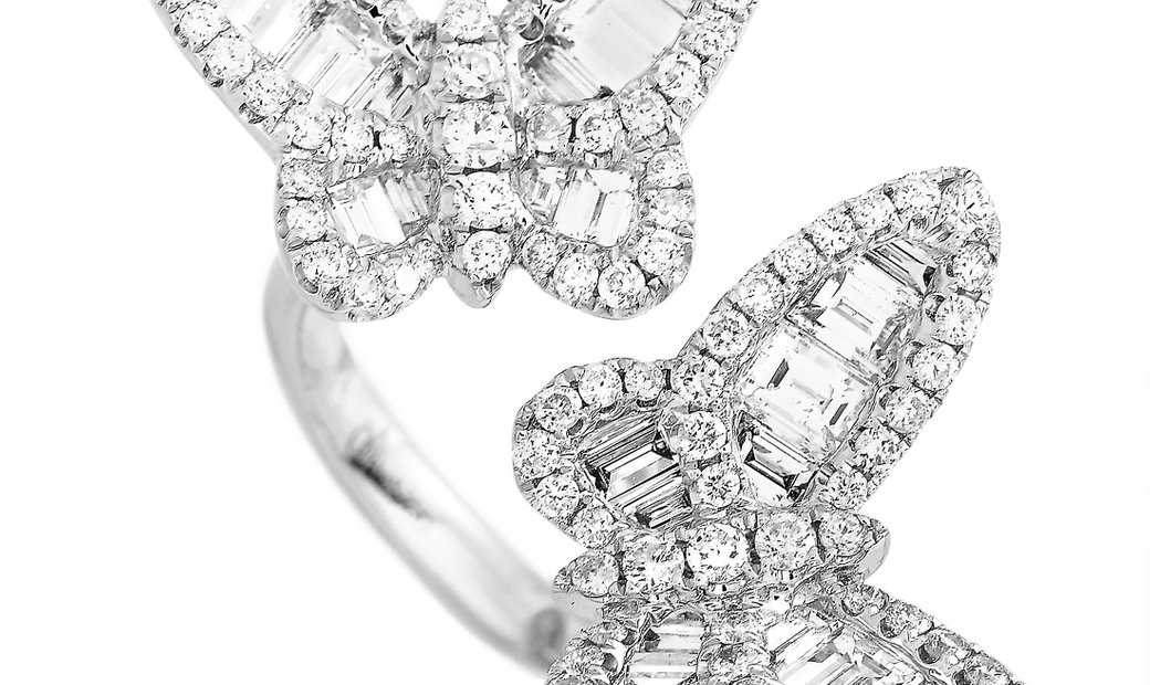 LB Exclusive LB Exclusive 18K White Gold 2.53 ct Diamond Butterfly Ring