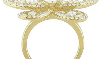 LB Exclusive LB Exclusive 18K Yellow Gold 4.33 ct Diamond Butterfly Ring