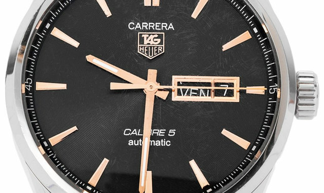TAG Heuer Carrera WAR201C.FC6266, Baton, 2015, Very Good, Case material Steel, Bracelet