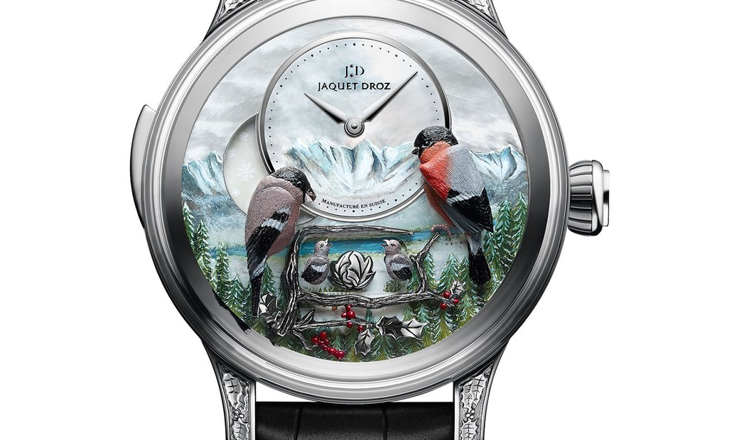 JAQUET DROZ [LIMITED 8 PIECE] THE BIRD REPEATER ALPINE VIEW J031034205 (Retail:CHF 540,000)