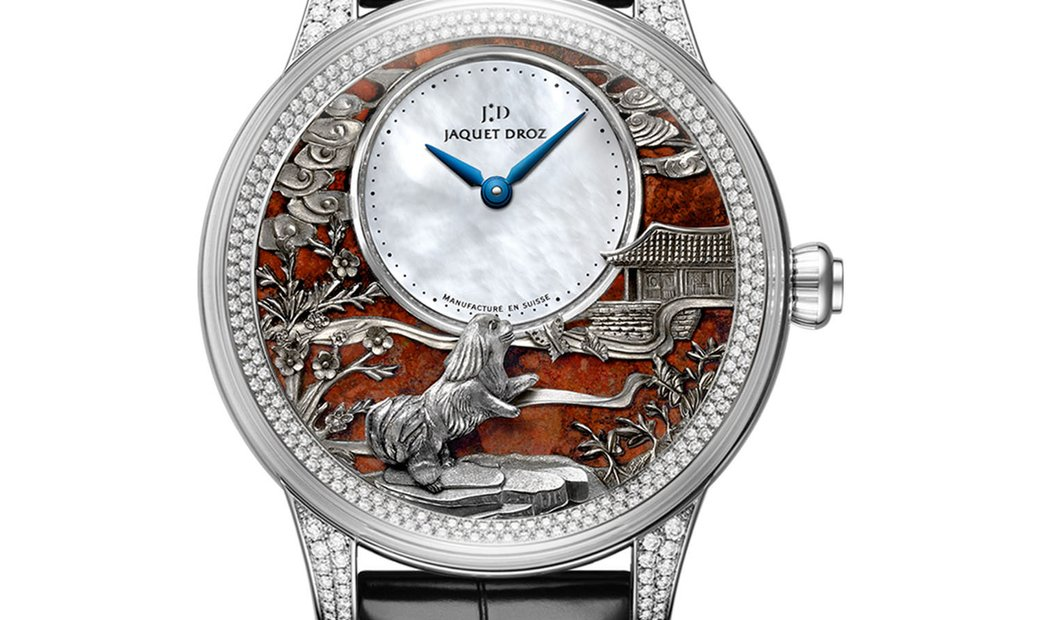 JAQUET DROZ [LIMITED 28 PIECE] Petite Heure Minute Relief Dog J005024283 (Retail:CHF 79'950)