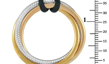 Cartier Cartier Trinity 18K Yellow, White and Rose Gold Diamond Silk Cord Necklace