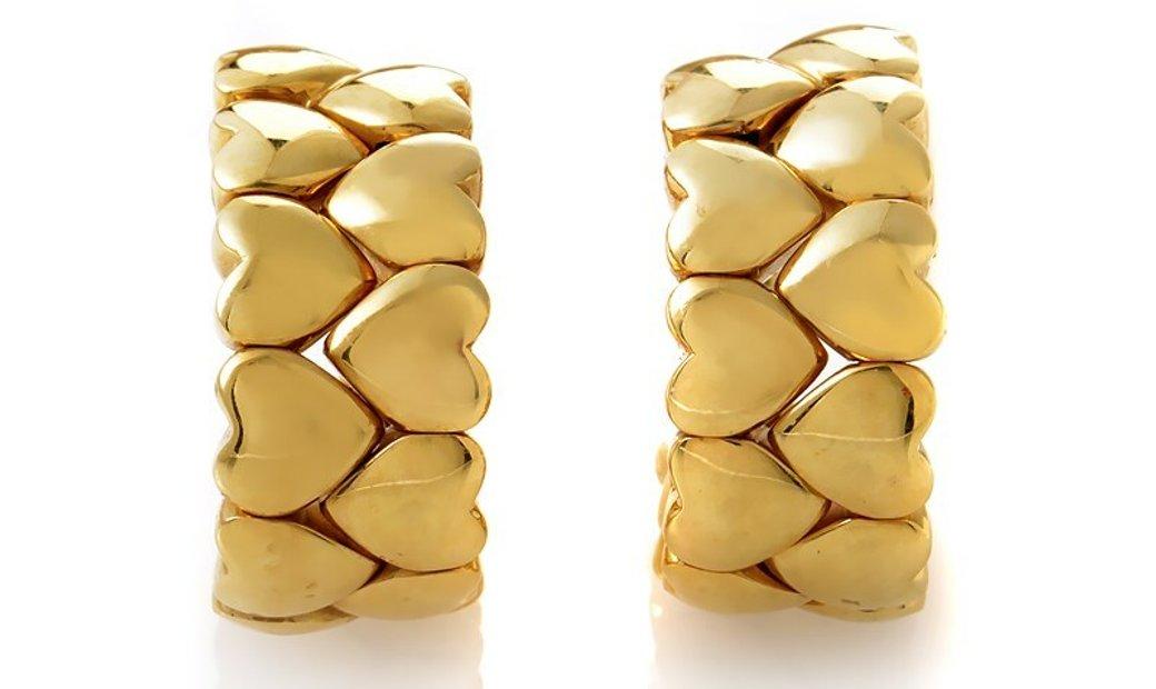 Cartier Cartier 18K Yellow Gold Heart Huggie Earrings
