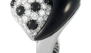 Picchiotti Picchiotti 18K White Gold 2.18 ct Diamond and Onyx Cocktail Ring
