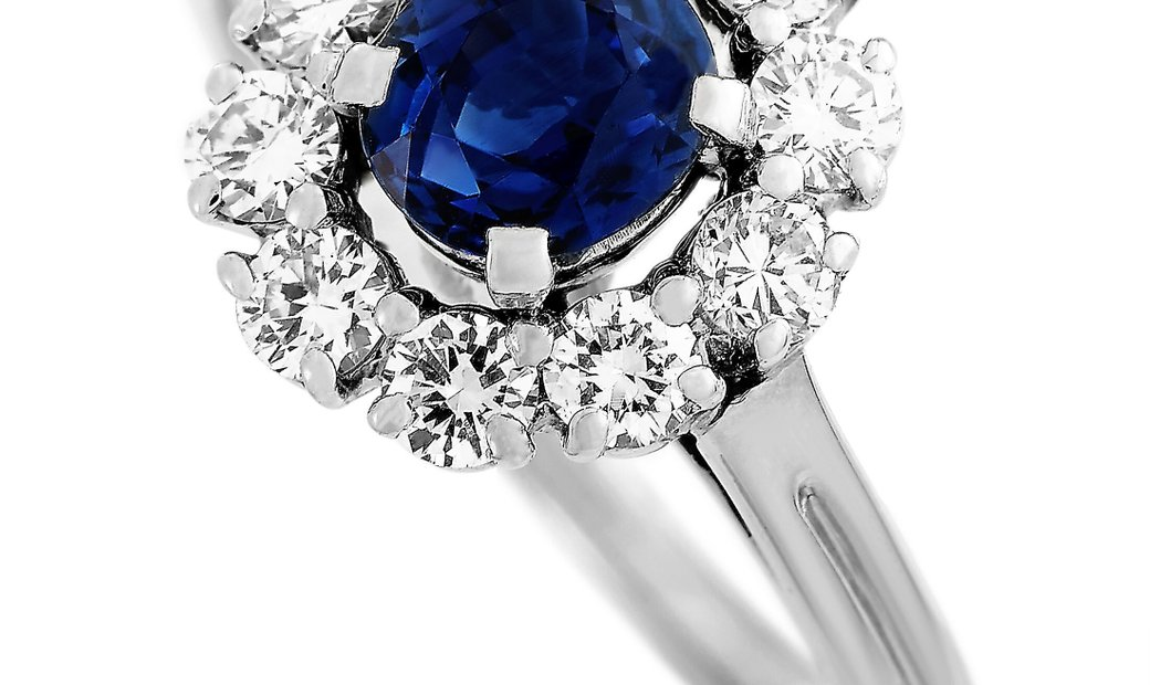 Tiffany & Co. Tiffany & Co. Platinum 0.50 ct Diamond and Sapphire Flower Ring