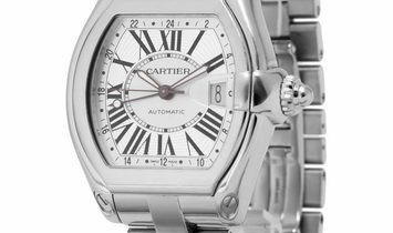 Cartier Roadster 2722, Roman Numerals, 2000, Very Good, Case material Steel, Bracelet m