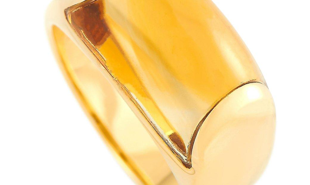 Bvlgari Bvlgari Tronchetto 18K Yellow Gold Citrine Ring