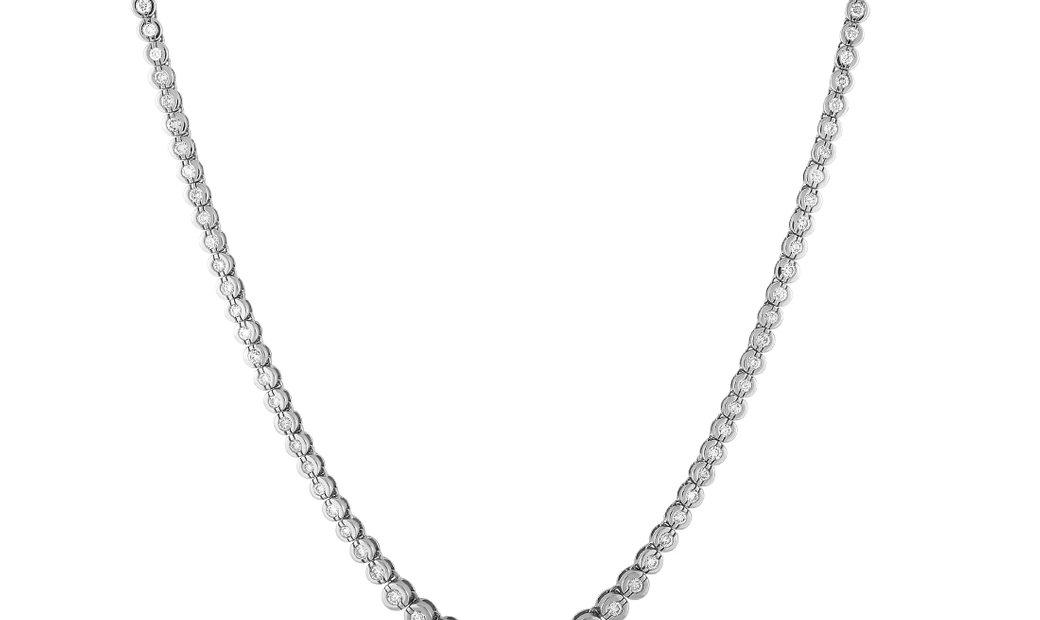LB Exclusive LB Exclusive 14K White Gold 5.00 ct Diamond Necklace