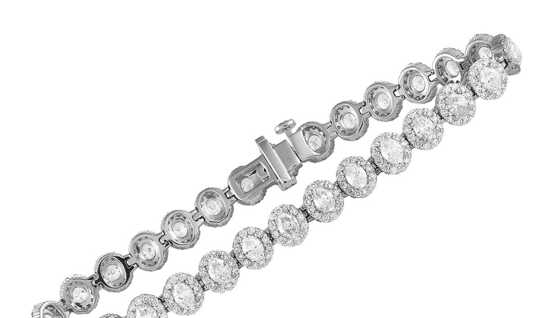 LB Exclusive LB Exclusive 14K White Gold 7.00 ct Diamond Bracelet