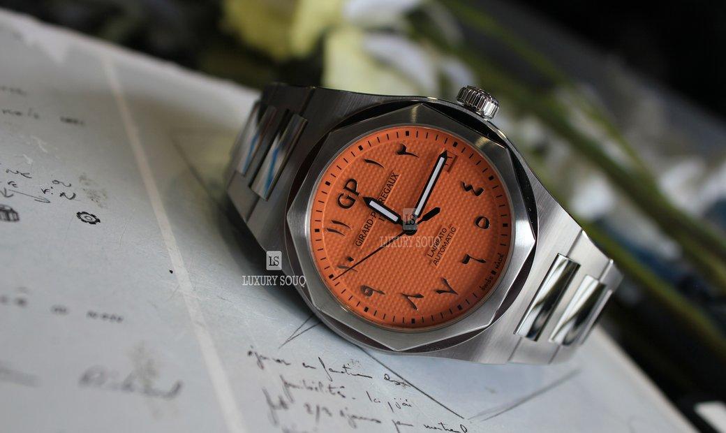 Girard Perregaux Laureato Orange Arabic DIAL LIMITED EDITION 81010-11-1745-11A