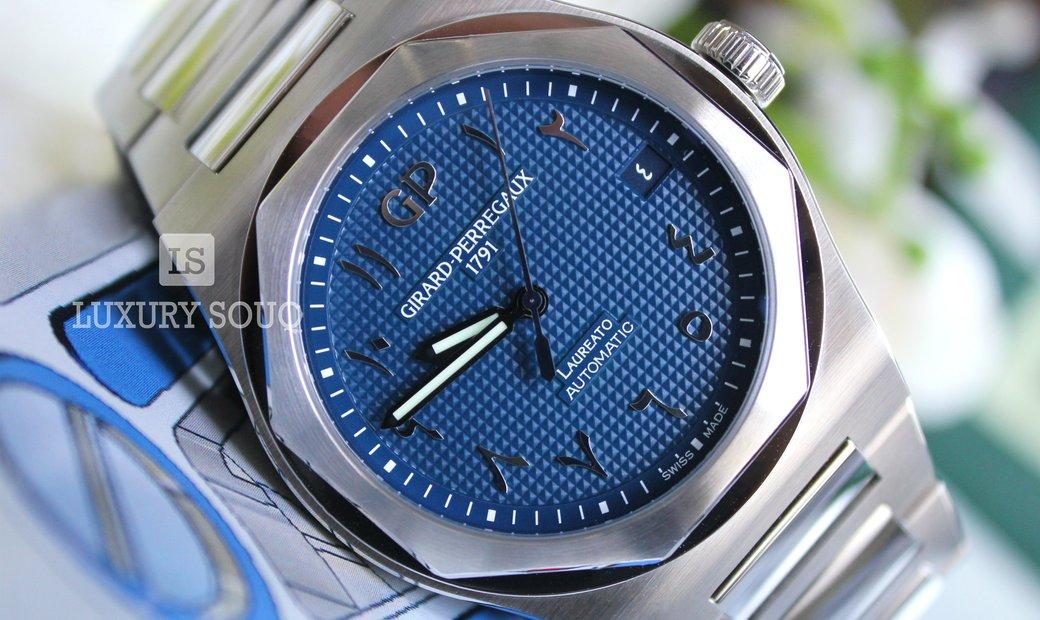 Girard Perregaux Laureato Arabic dial Limited Edition 81010-11-1431-11A