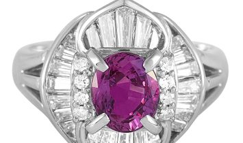 LB Exclusive LB Exclusive Platinum 1.05 ct Diamond and Sapphire Ring