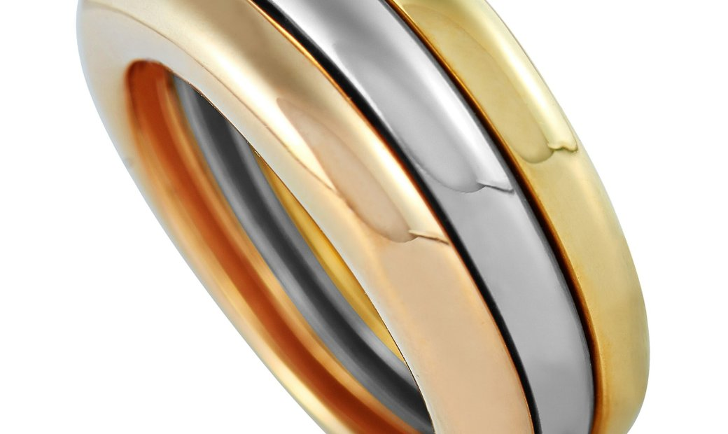 Cartier Cartier Trinity 18K Yellow/White/Rose Gold Ring