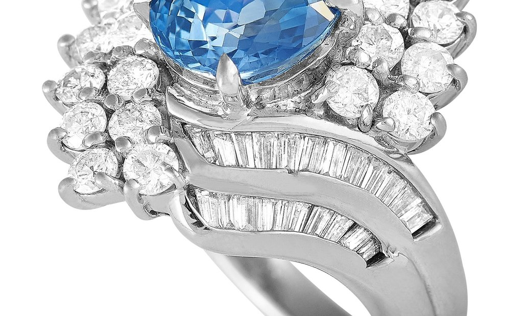 LB Exclusive LB Exclusive Platinum 1.50 ct Diamond and Sapphire Ring
