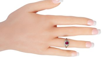 LB Exclusive LB Exclusive Platinum 0.45 ct Diamond and Ruby Ring