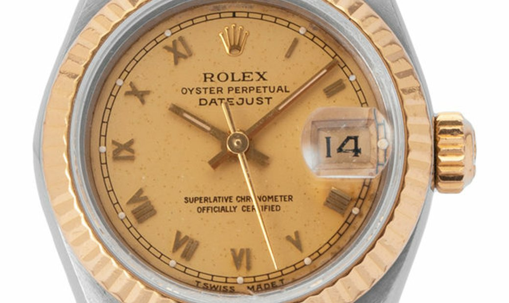 Rolex Lady-Datejust 69173, Roman Numerals, 1987, Used, Case material Steel, Bracelet ma
