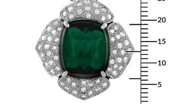 LB Exclusive LB Exclusive Platinum 0.74 ct Diamond and Tourmaline Pendant Necklace