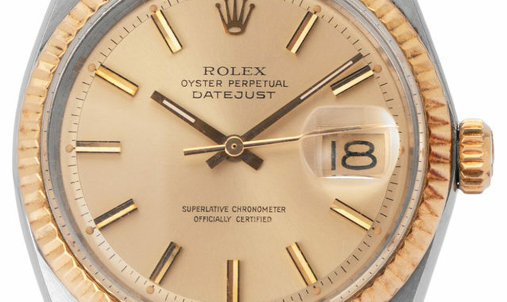 Rolex Datejust 1601, Baton, 1971, Used, Case material Steel, Bracelet material: Leather